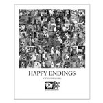 Happy Endings B&W Small Poster