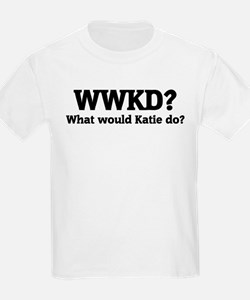 What would Katie do? Kids T-Shirt