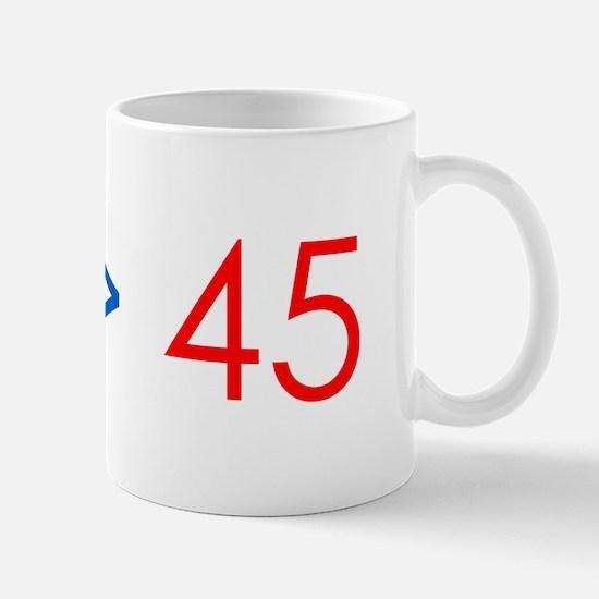 44 > 45 Mugs
