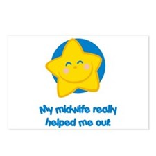 Midwives Help Blue Star Postcards (Package of 8)