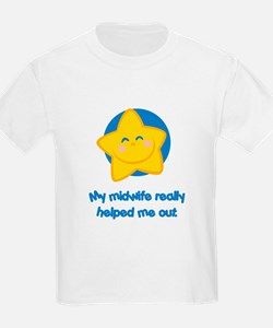 Midwives Help Blue Star T-Shirt