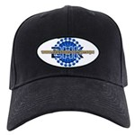 2HK Black Cap/Blue Logo
