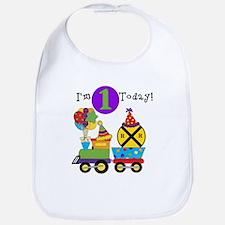 Birthday Train 1st Bib