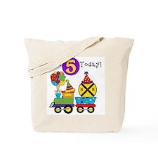 Birthday Train 5th Tote Bag