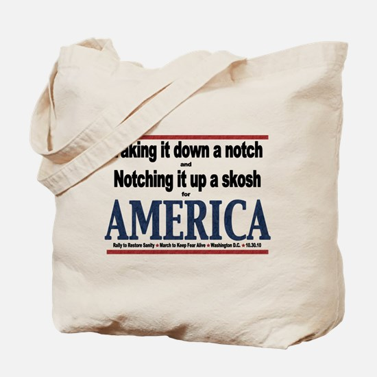Funny Rally to restore sanity Tote Bag
