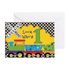 1st Birthday Train Greeting Card