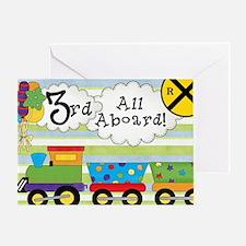 All Aboard 3rd Birthday Greeting Card