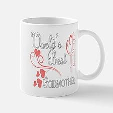 Best Godmother (Pink Hearts) Mug