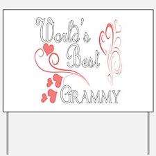 Best Grammy (Pink Hearts) Yard Sign