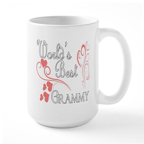 Best Grammy (Pink Hearts) Large Mug