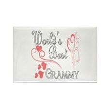 Best Grammy (Pink Hearts) Rectangle Magnet