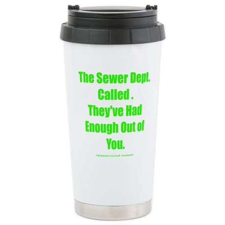 Sewer Dept. Stainless Steel Travel Mug