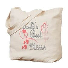 Best Mema (Pink Hearts) Tote Bag