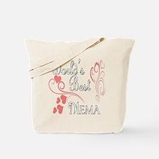 Best Mema (Pink Hearts) Tote Bag