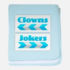 Clowns and Jokers baby blanket
