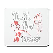 Best Memaw (Pink Hearts) Mousepad