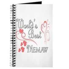 Best Memaw (Pink Hearts) Journal