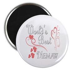 Best Memaw (Pink Hearts) Magnet