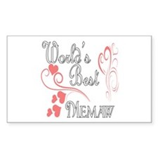 Best Memaw (Pink Hearts) Decal