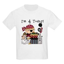 4th Birthday Pirate T-Shirt