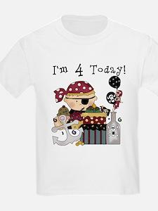 4th Birthday Pirate T-Shirt