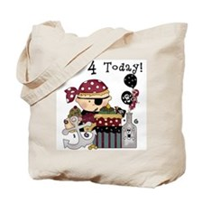 4th Birthday Pirate Tote Bag