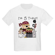 5th Birthday Pirate T-Shirt