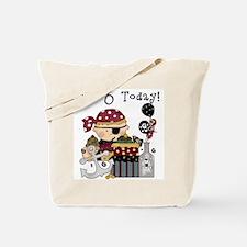 6th Birthday Pirate Tote Bag