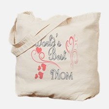 Best Mom (Pink Hearts) Tote Bag