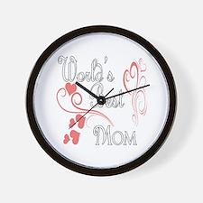 Best Mom (Pink Hearts) Wall Clock