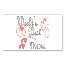 Best Mom (Pink Hearts) Decal