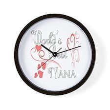 Best Nana (Pink Hearts) Wall Clock
