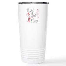 Best Nana (Pink Hearts) Stainless Steel Travel Mug