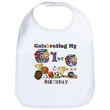 Sports 1st Birthday Bib