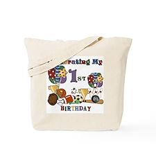 Sports 1st Birthday Tote Bag