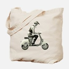 Scooter Cowboy Tote Bag