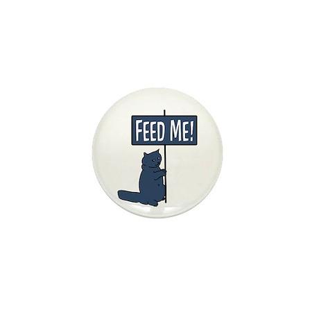 Feed me ! Cat Mini Button