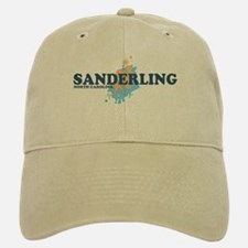 Sanderling NC - Seashells Design Baseball Baseball Cap