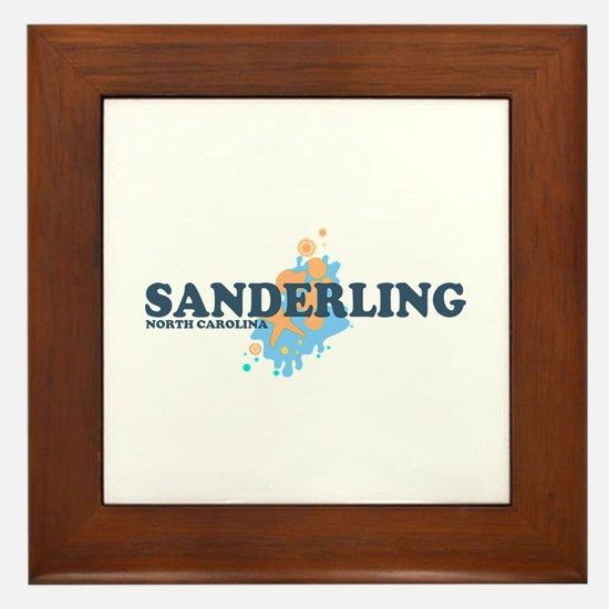 Sanderling NC - Seashells Design Framed Tile