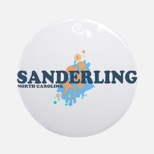 Sanderling NC - Seashells Design Ornament (Round)
