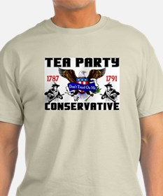 """Tea Party Conservative"" Color T-Shirt"