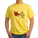 Devil and Angel Yellow T-Shirt