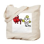 Devil and Angel Tote Bag