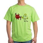 Devil and Angel Green T-Shirt
