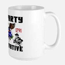 """Tea Party Conservative"" Large Mug"