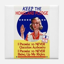 Homeland Pledge Tile Coaster