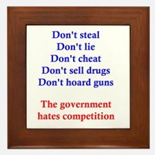 Government Competition Framed Tile