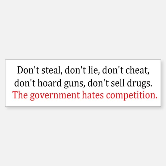 Government Competition Sticker (Bumper)