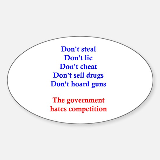 Government Competition Sticker (Oval)