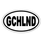 Goochland Virginia GCHLND Euro Oval Sticker